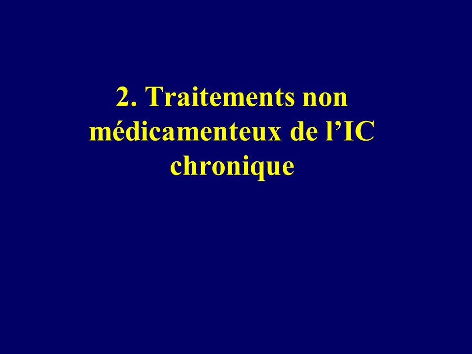 2. Traitements non médicamenteux de lIC chronique