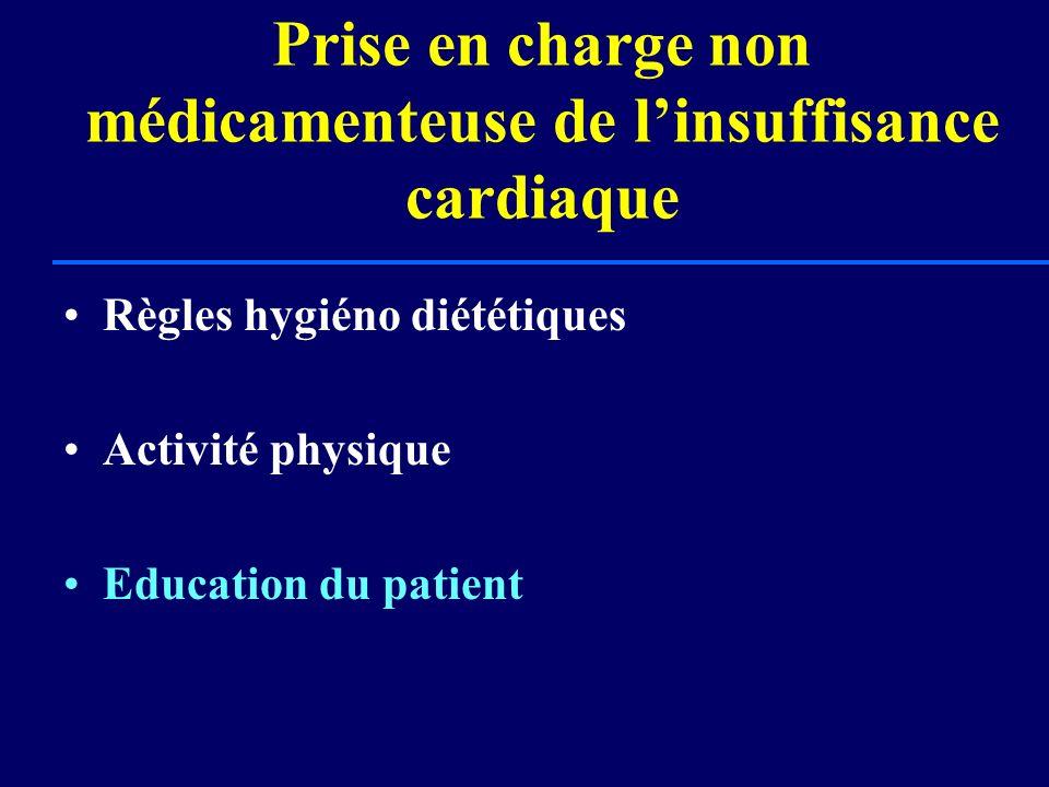 Prise en charge non médicamenteuse de linsuffisance cardiaque Règles hygiéno diététiques Activité physique Education du patient