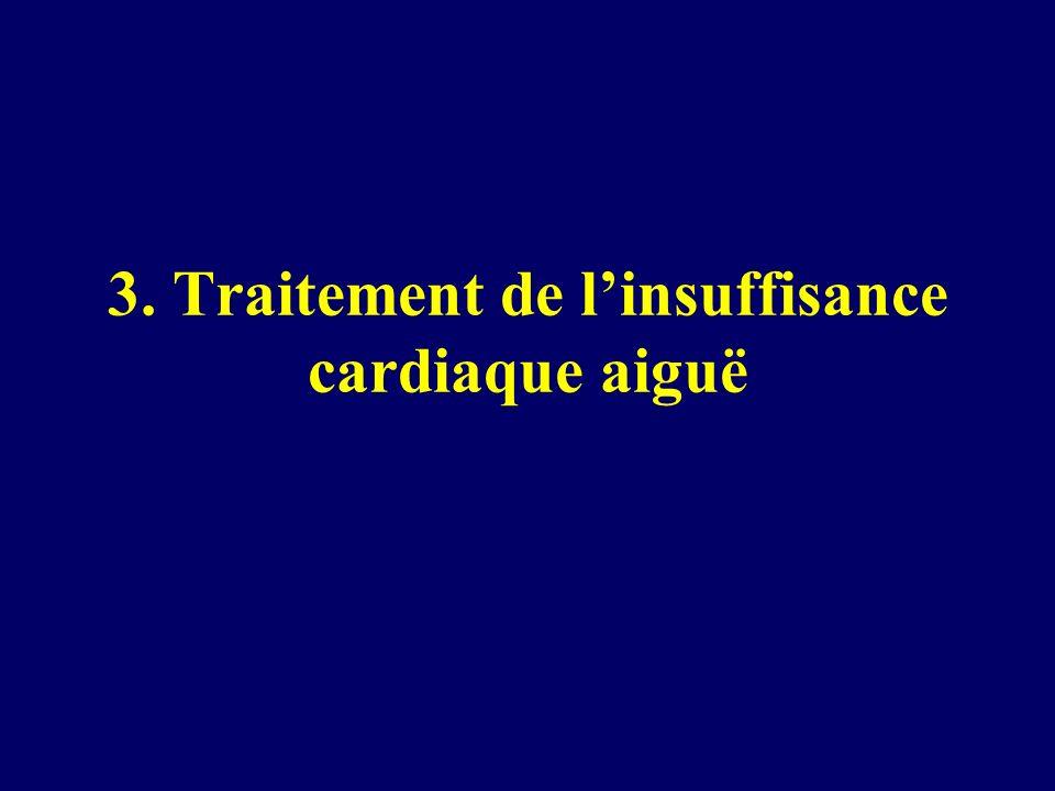 3. Traitement de linsuffisance cardiaque aiguë