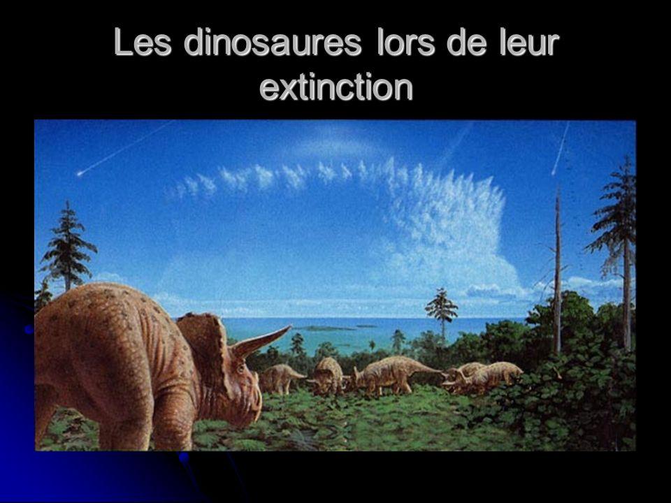Les dinosaures lors de leur extinction