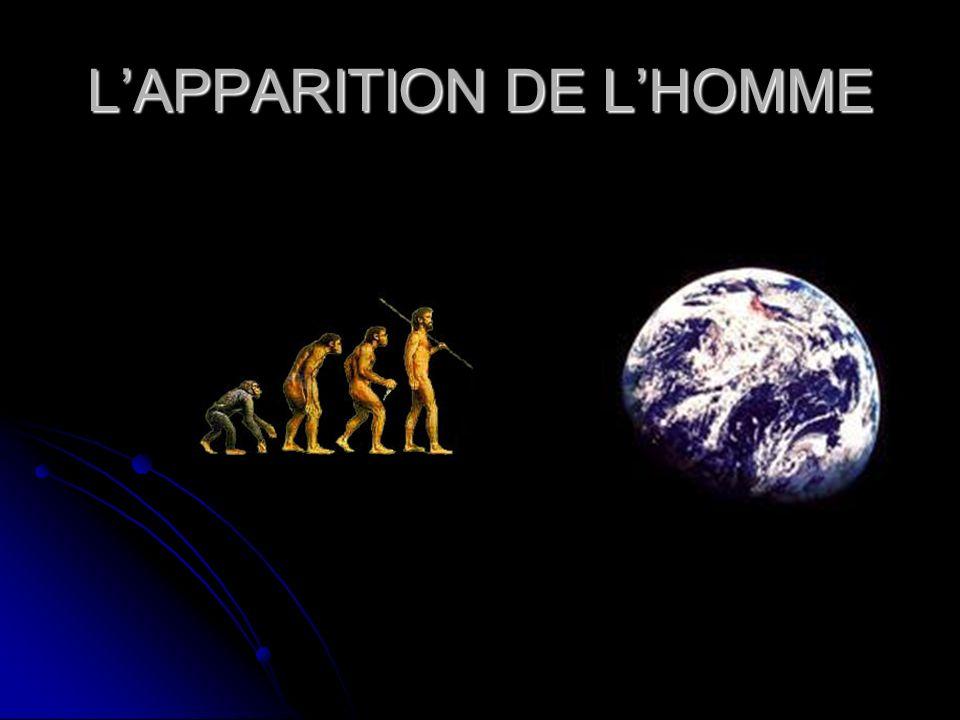 LAPPARITION DE LHOMME
