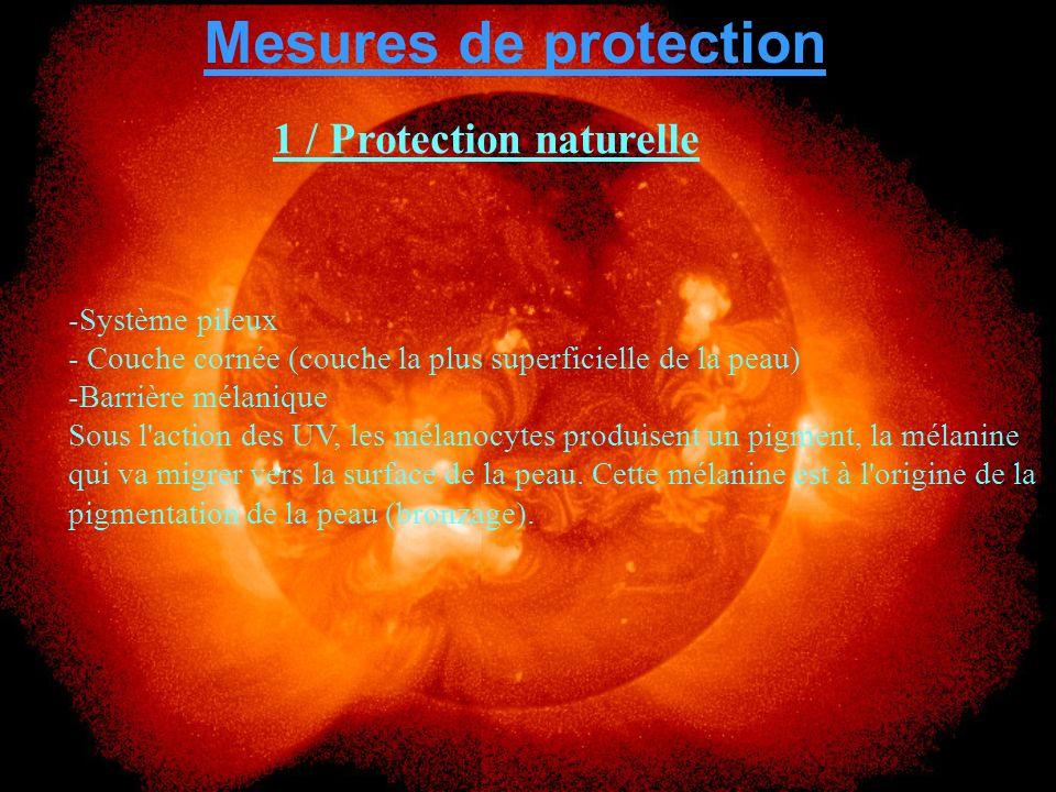 -Ecrans et filtres solaires : choisir ceux qui ont un facteur de protection élevé et les appliquer de façon répétée.