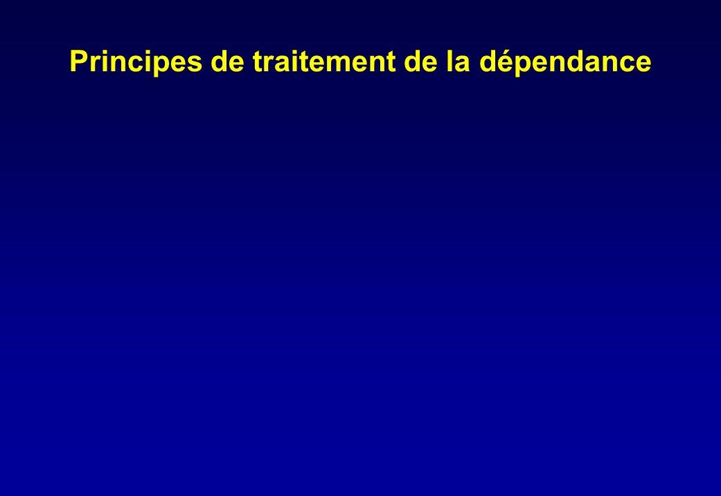 Principes de traitement de la dépendance