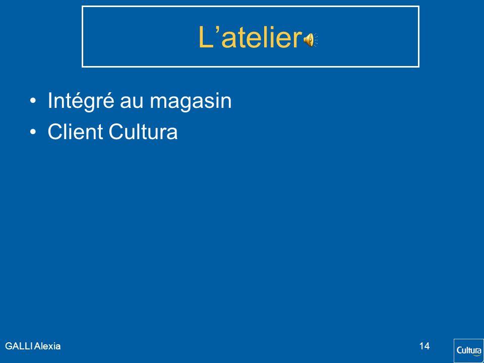 GALLI Alexia13 Les Chiffres Valentine/Réseau Cultura la Valentine : 4% du CA total Cultura Marge Cultura la Valentine : 4% des marges totales PLA/Vale