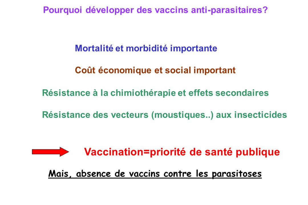 Vaccins anti-parasitaires??.