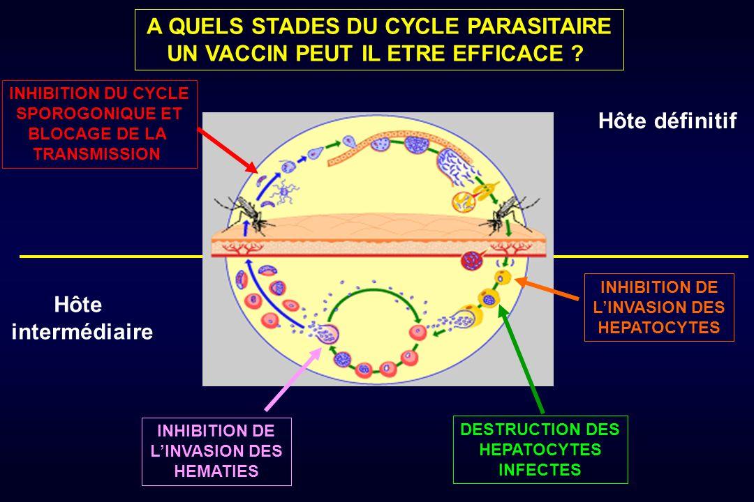 Le vaccin idéal contre la bilharziose Réduction de la charge parasitaire : anti-infection Réduction de la viabilité des oeufs : anti-transmission Réduction du nombre d oeufs : anti- maladie