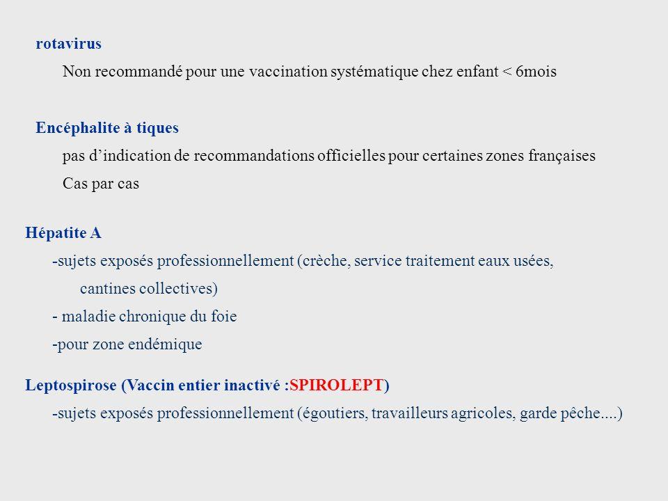 Hépatite A -sujets exposés professionnellement (crèche, service traitement eaux usées, cantines collectives) - maladie chronique du foie -pour zone en