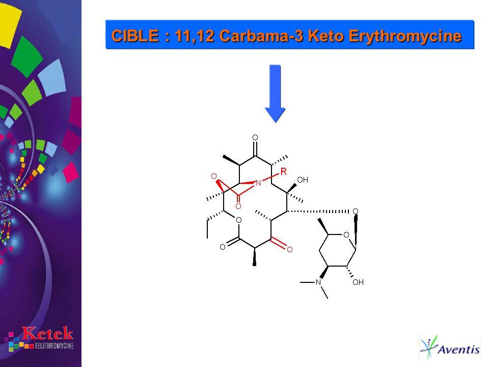 CIBLE : 11,12 Carbama-3 Keto Erythromycine