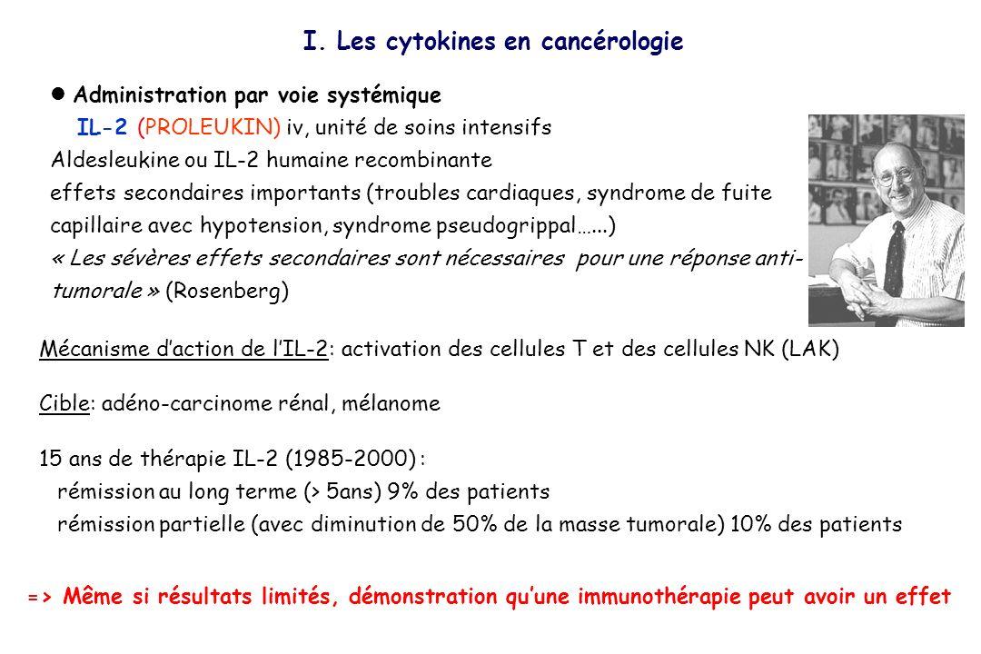 Administration par voie systémique IL-2 (PROLEUKIN) iv, unité de soins intensifs Aldesleukine ou IL-2 humaine recombinante effets secondaires importan