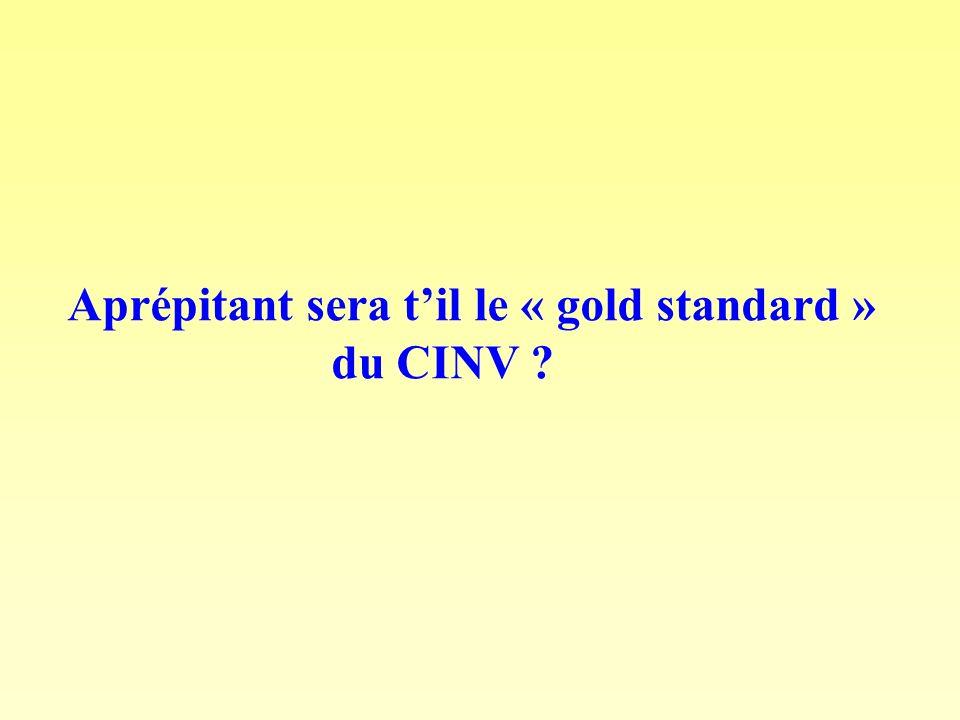 Aprépitant sera til le « gold standard » du CINV ?