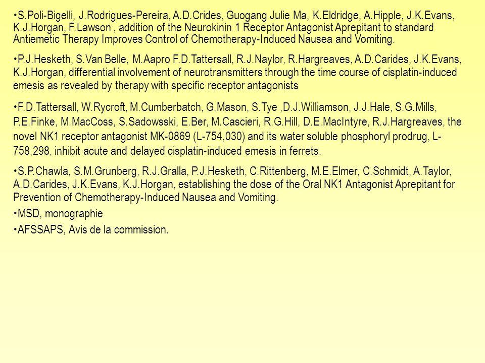 S.Poli-Bigelli, J.Rodrigues-Pereira, A.D.Crides, Guogang Julie Ma, K.Eldridge, A.Hipple, J.K.Evans, K.J.Horgan, F.Lawson, addition of the Neurokinin 1