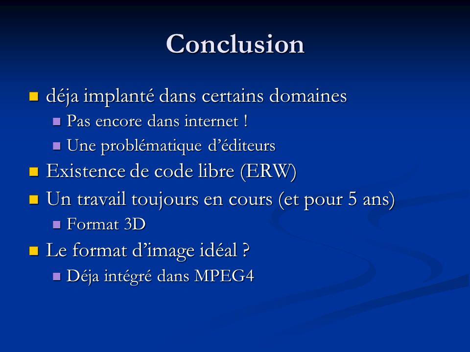 Conclusion déja implanté dans certains domaines déja implanté dans certains domaines Pas encore dans internet .