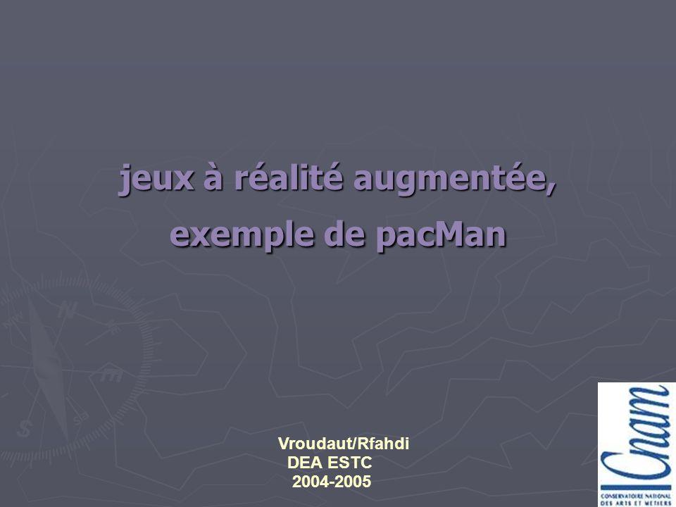 jeux à réalité augmentée, exemple de pacMan Vroudaut/Rfahdi DEA ESTC 2004-2005