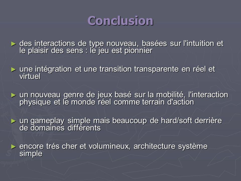 Conclusion des interactions de type nouveau, basées sur l'intuition et le plaisir des sens : le jeu est pionnier des interactions de type nouveau, bas