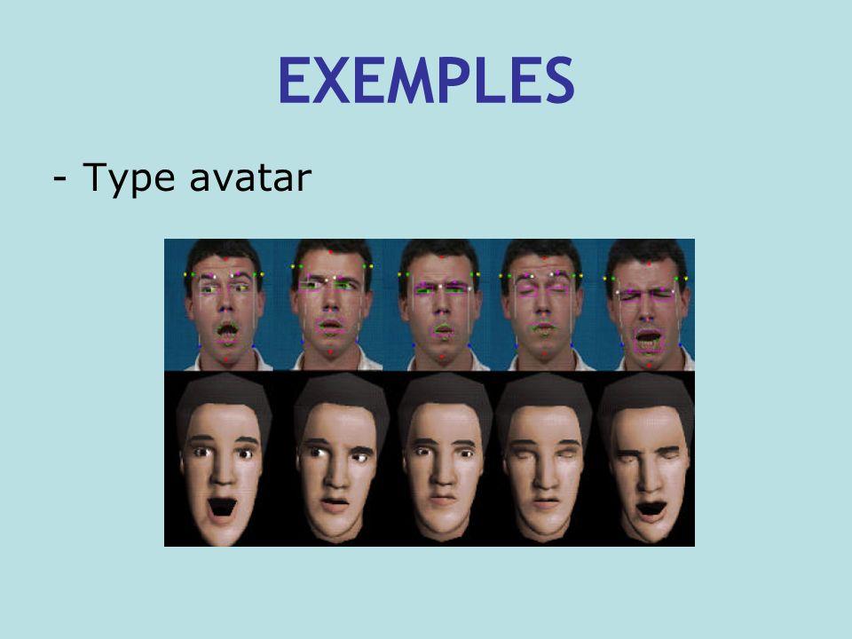 EXEMPLES -Type avatar
