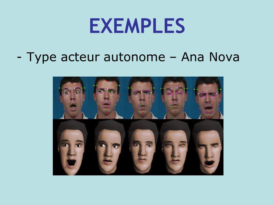 EXEMPLES -Type acteur autonome – Ana Nova