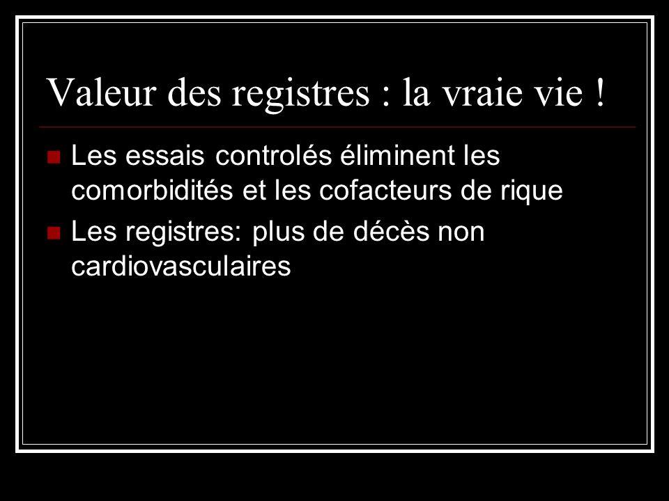 Valeur des registres : la vraie vie .