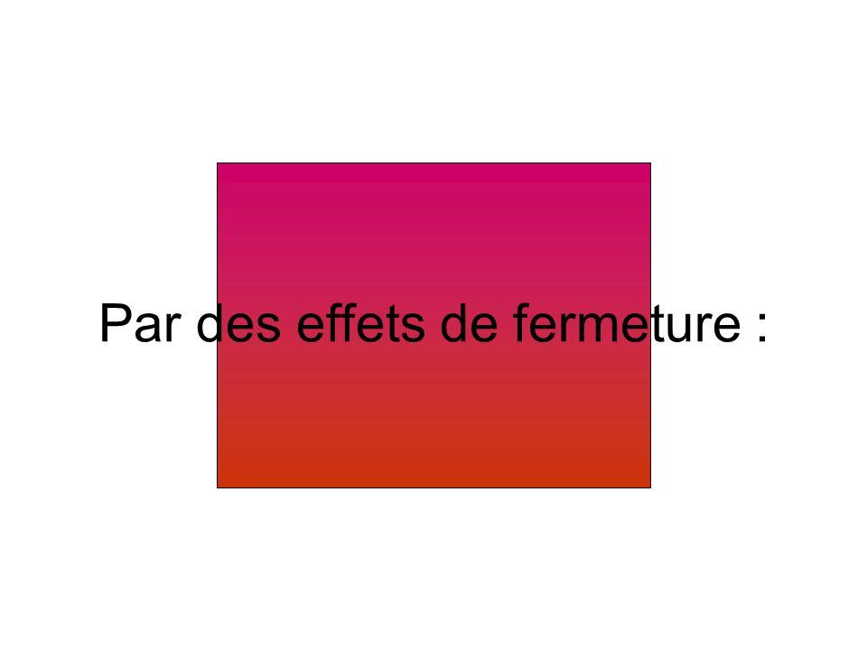 Le soleil Deux autres effets sont ajoutés pour accentuer le coucher de soleil : – leffet demphase « assombrir » et, – leffet de fermeture « barres aléatoires ».