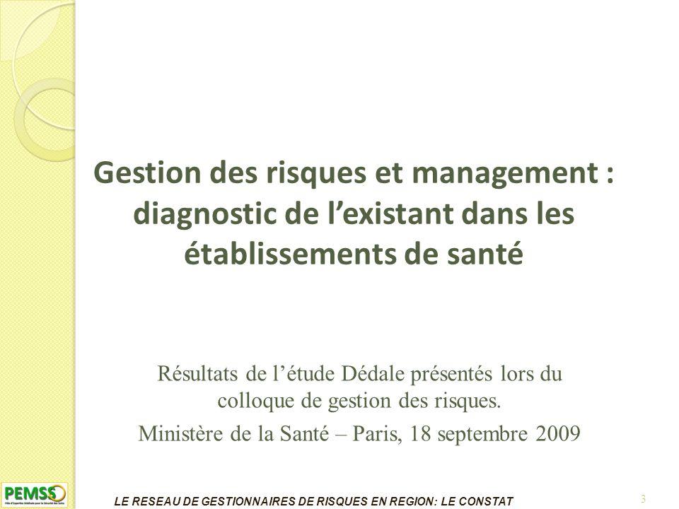 14 LE RESEAU DE GESTIONNAIRES DE RISQUES EN REGION: ANNUAIRE
