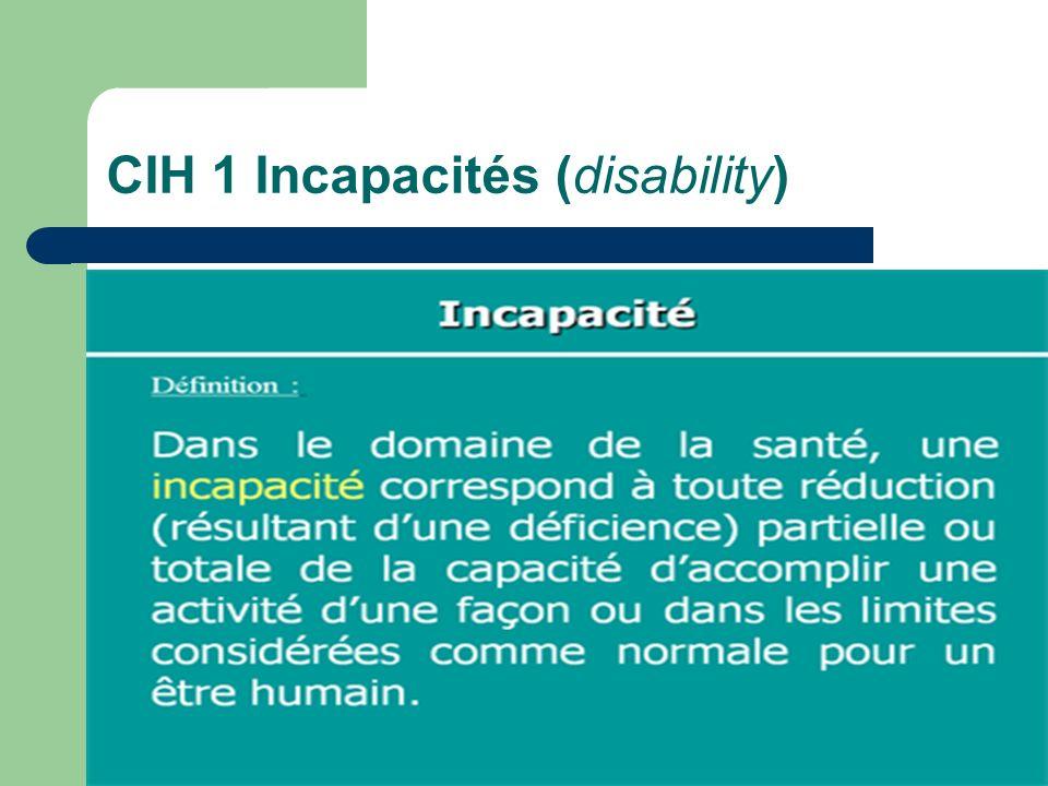 CIH 1 Incapacités (disability)