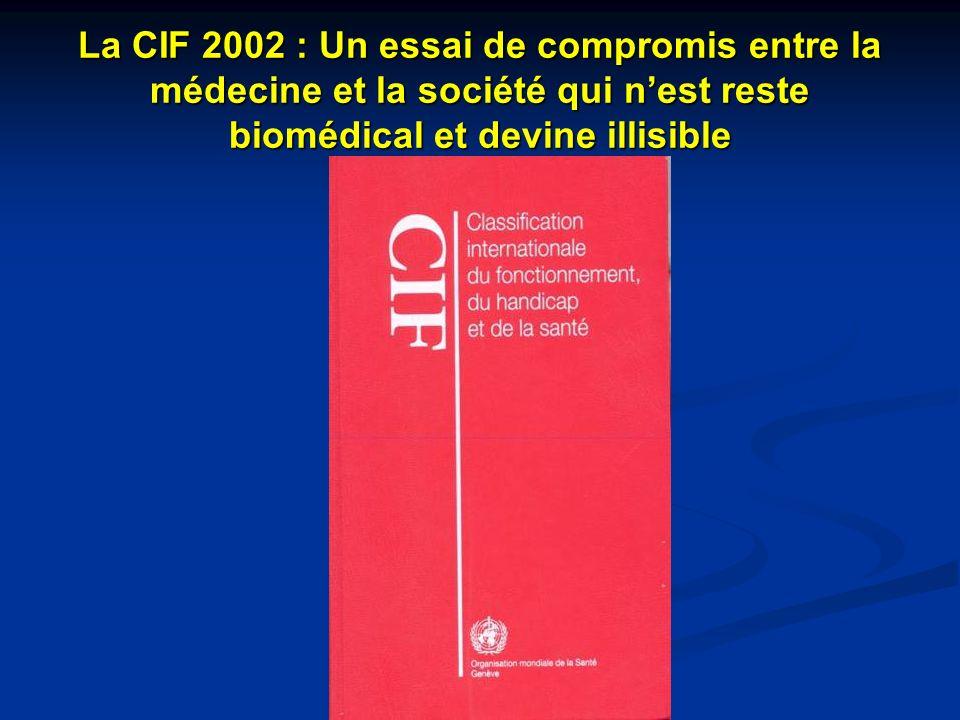 La CIF 2002 : Un essai de compromis entre la médecine et la société qui nest reste biomédical et devine illisible