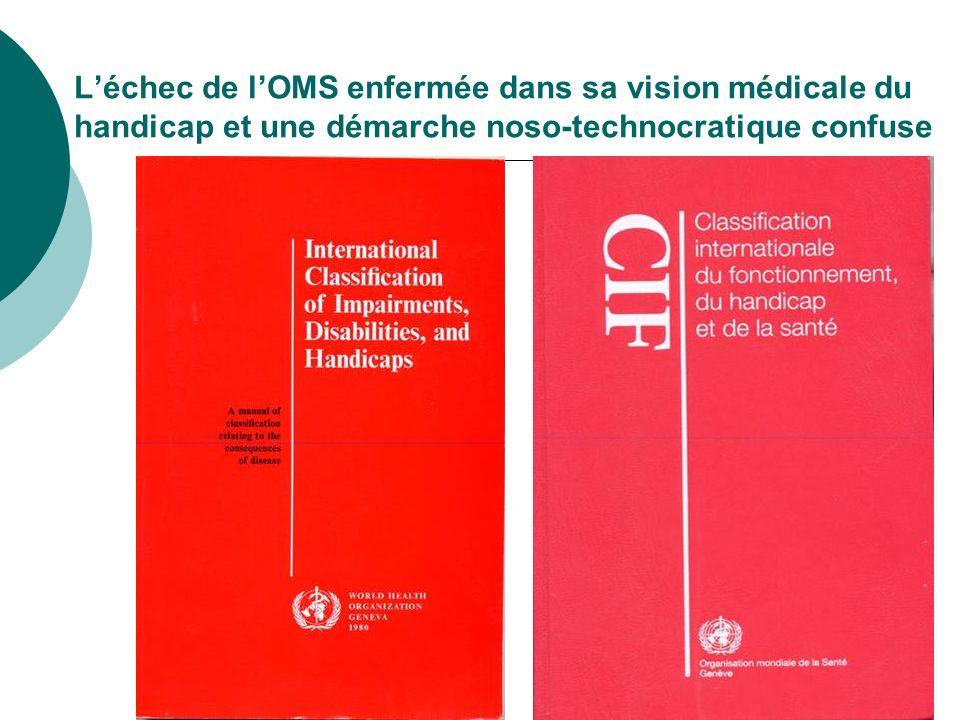 Léchec de lOMS enfermée dans sa vision médicale du handicap et une démarche noso-technocratique confuse