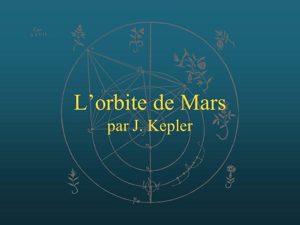 Lorbite de Mars par J. Kepler