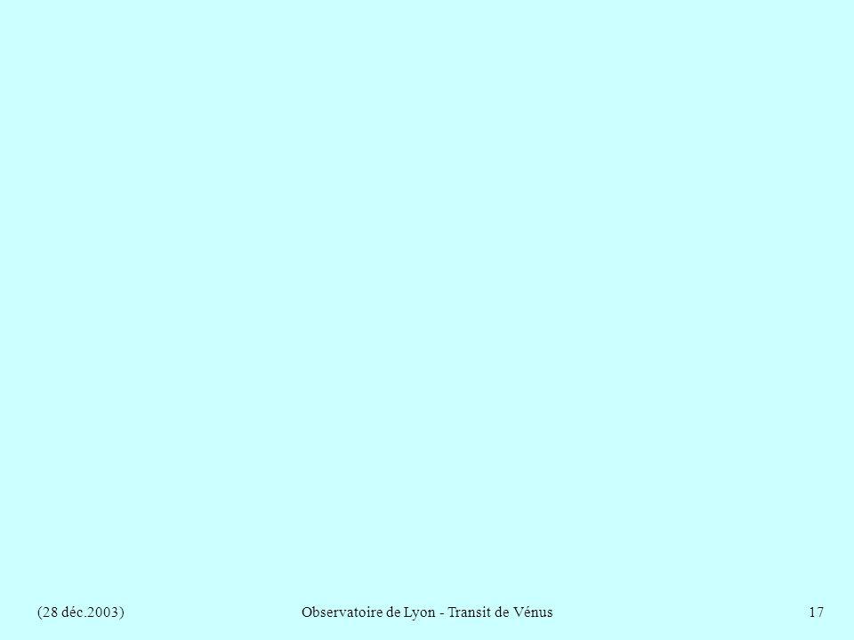 (28 déc.2003)Observatoire de Lyon - Transit de Vénus17