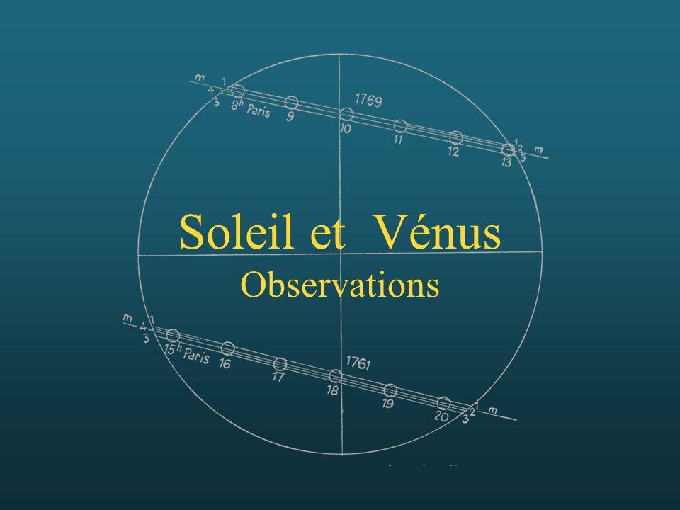 Soleil et Vénus Observations