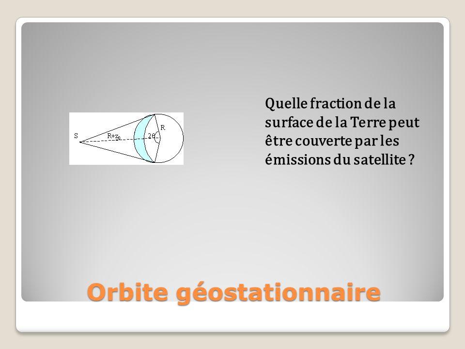 Quelle fraction de la surface de la Terre peut être couverte par les émissions du satellite ?