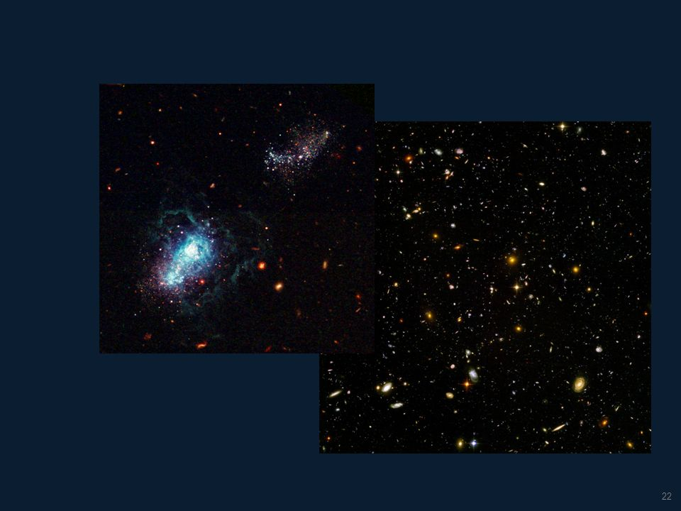 23 Released on September 25, 2012, the XDF image compiled 10 years of previous images and shows galaxies from 13.2 billion years ago.