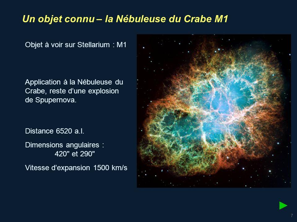 8 Contrairement à Abell 39 qui semble immuable, M1 montre des changements perceptibles à léchelle temporelle humaine.