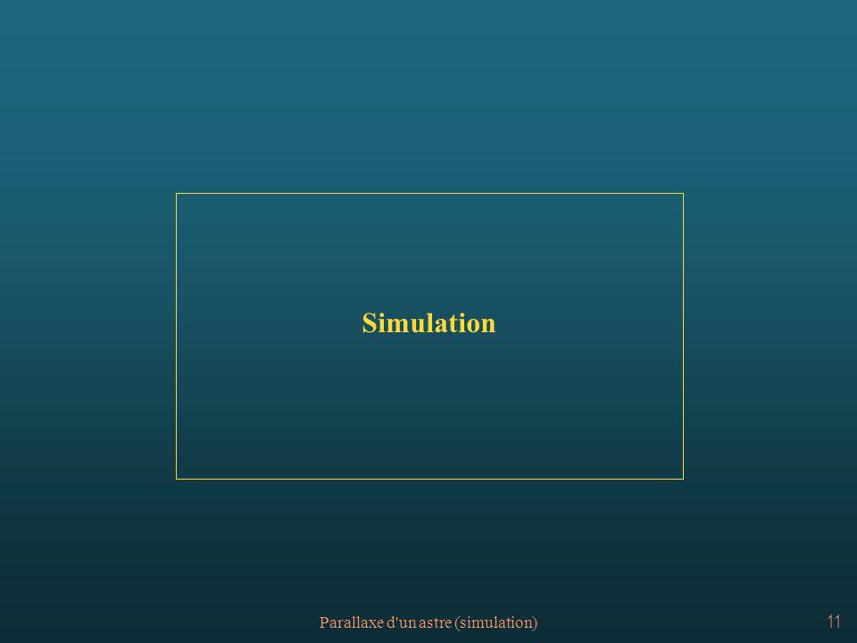 Parallaxe d'un astre (simulation)11 Simulation