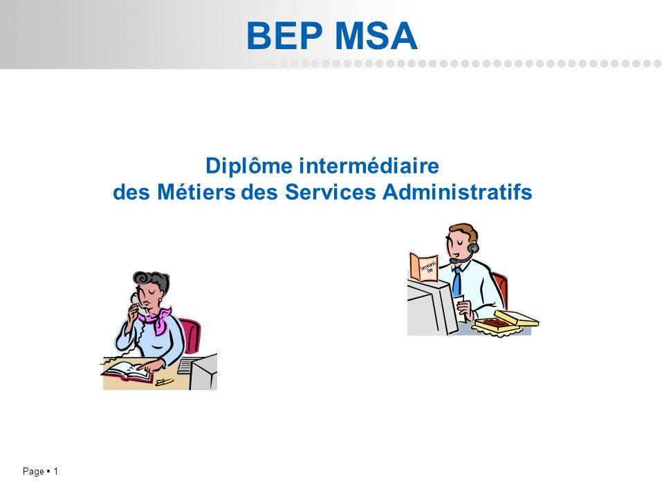 Page 1L.P. Doriole LA ROCHELLE BEP MSA Diplôme intermédiaire des Métiers des Services Administratifs
