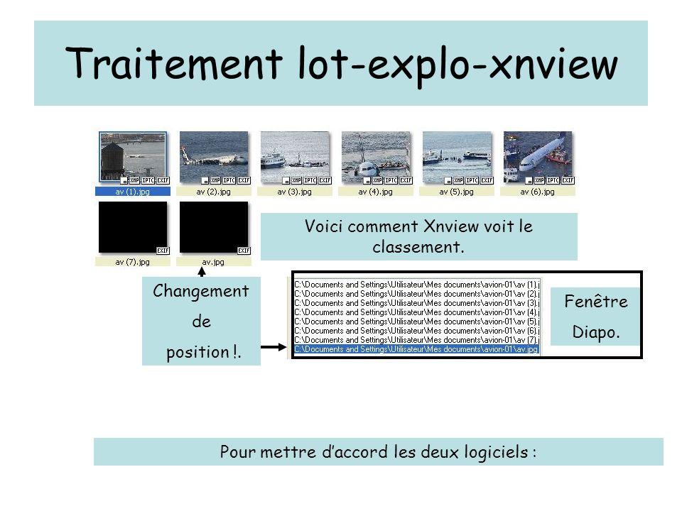 Traitement lot-explo-xnview Ici une seule image renommée Attention à la syntaxe !!.