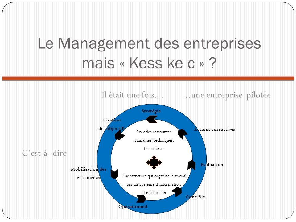 Le Management des entreprises mais « Kess ke c » ? Il était une fois……une entreprise Cest-à- dire Une structure qui organise le travail par un Système