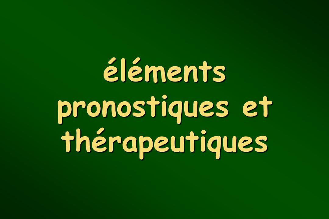 éléments pronostiques et thérapeutiques