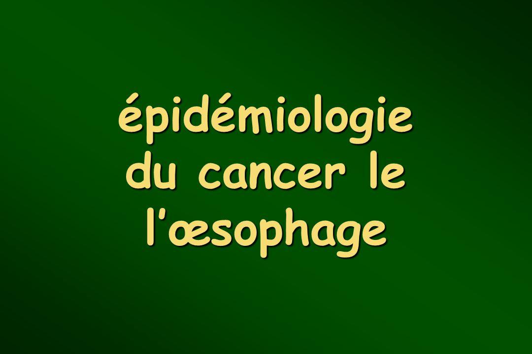 épidémiologie du cancer le lœsophage