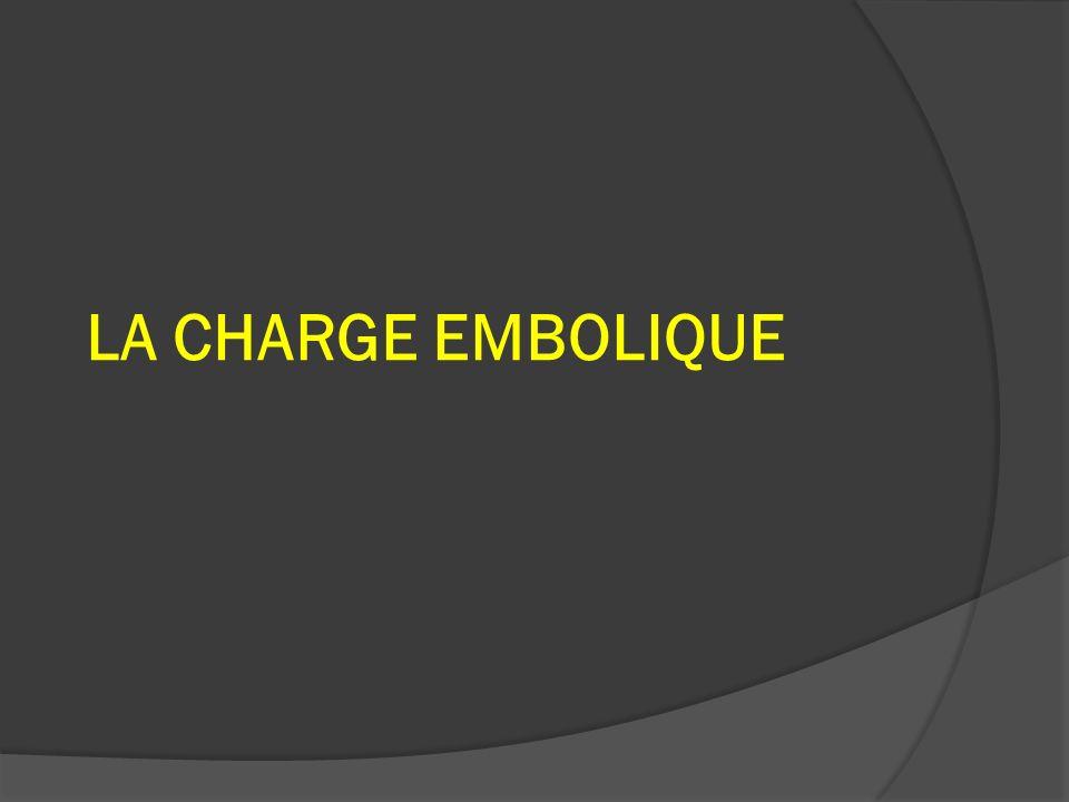 LA CHARGE EMBOLIQUE
