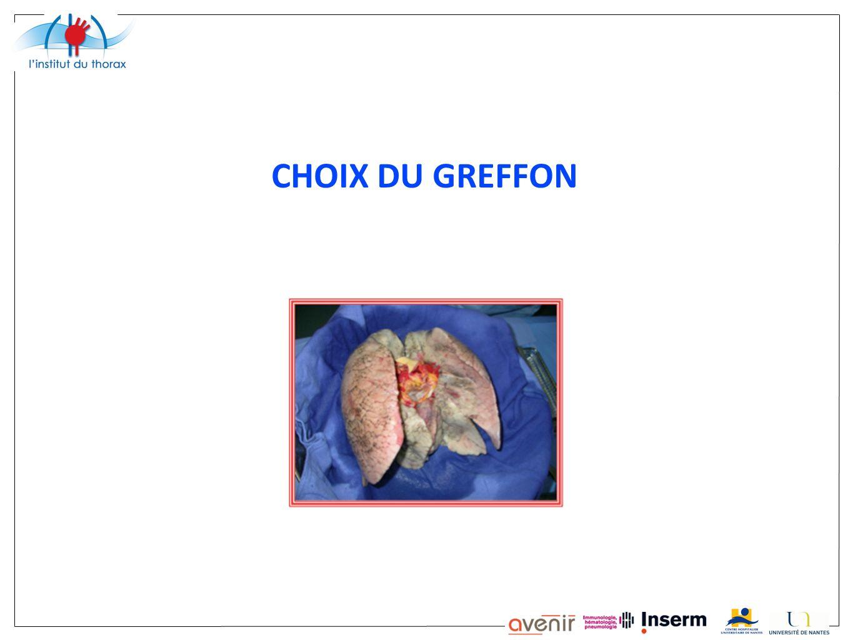 CHOIX DU GREFFON