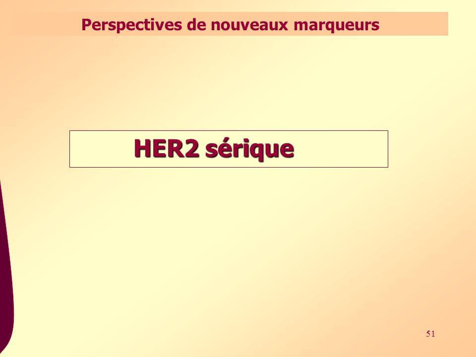 51 HER2 sérique Perspectives de nouveaux marqueurs