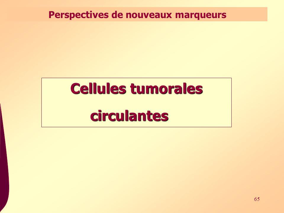 65 Cellules tumorales circulantes circulantes Perspectives de nouveaux marqueurs