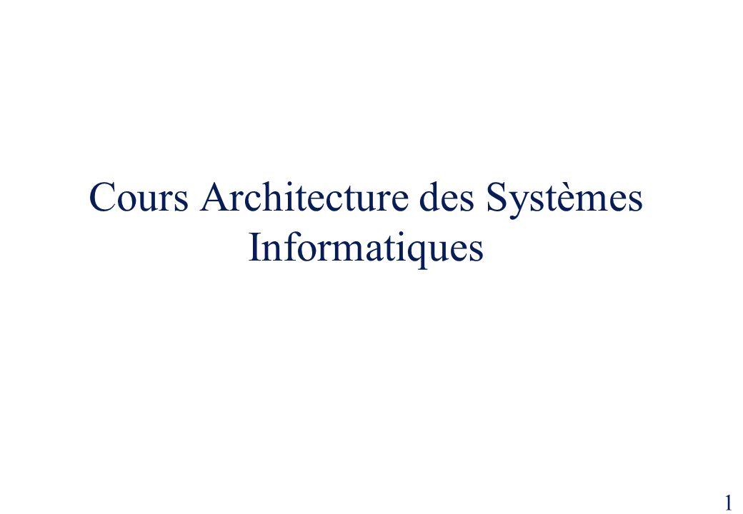 1 Cours Architecture des Systèmes Informatiques