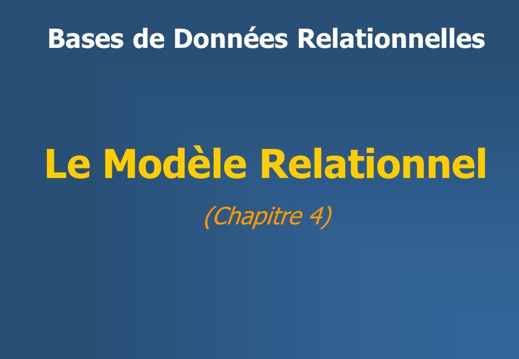 Le Modèle Relationnel (Chapitre 4) Bases de Données Relationnelles