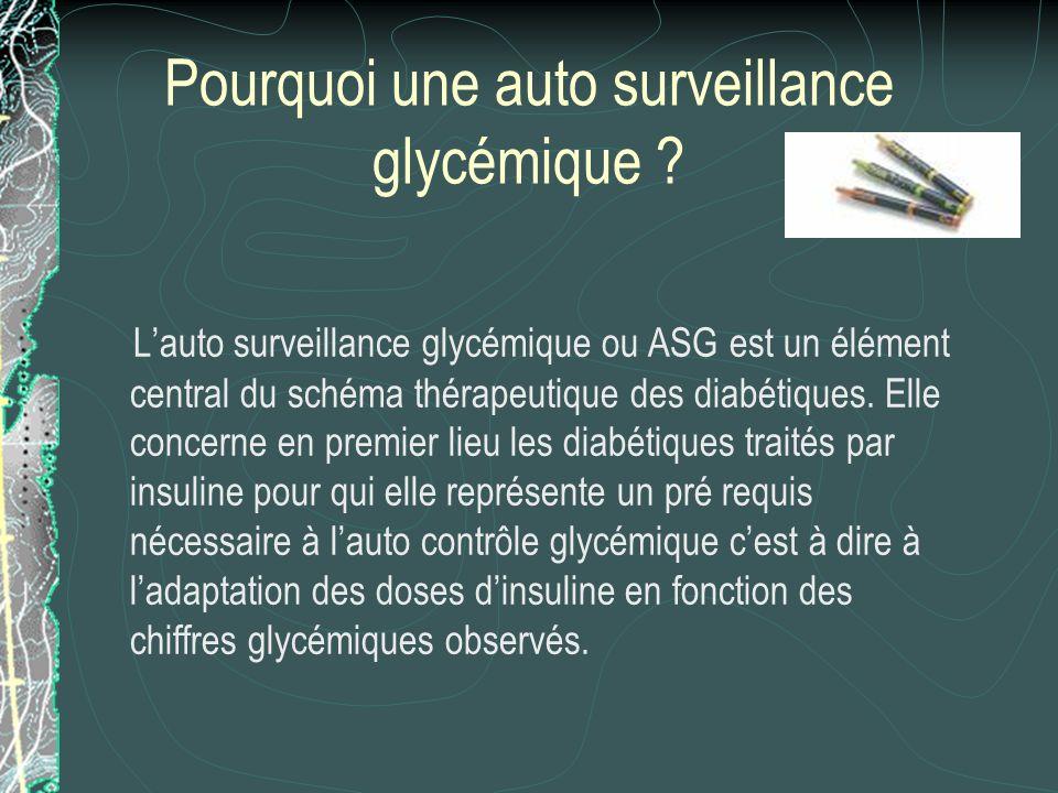 Définition «Pratiquer la surveillance glycémique,cest mesurer une glycémie capillaire afin doptimiser un traitement en adaptant les doses dinsuline ou