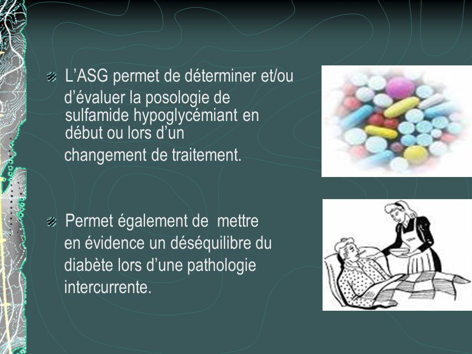 Pourquoi une auto surveillance glycémique ? Lauto surveillance glycémique ou ASG est un élément central du schéma thérapeutique des diabétiques. Elle
