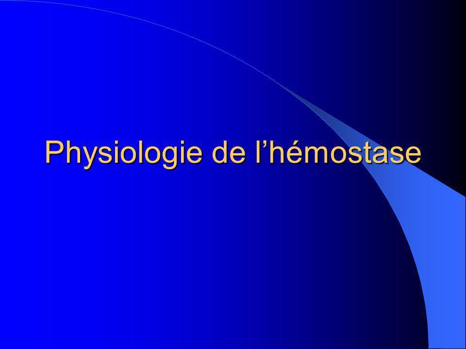 Physiologie de lhémostase