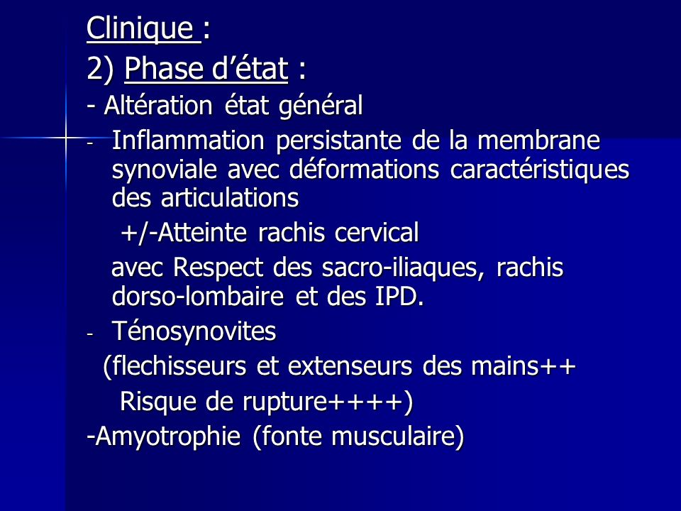 Traitement chirurgical : Traitement chirurgical : *Chirurgie correctrice : arthroplastie,résection osseuse…) *Synovectomie