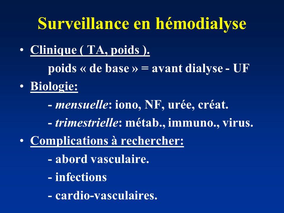 Le malade en hémodialyse 3 séances par semaine : - 4 heures en moyenne - L/M/V ou M/J/S = tous les 2jours ! Ponctions veineuses (1 ou 2 ): -anesthésie