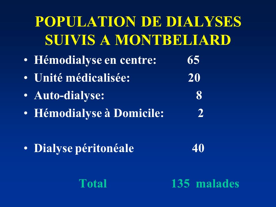 Surveillance en hémodialyse Clinique ( TA, poids ). poids « de base » = avant dialyse - UF Biologie: - mensuelle: iono, NF, urée, créat. - trimestriel